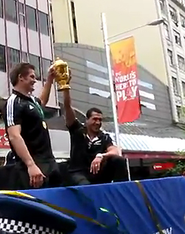 Los All Blacks celebraron en la Ciudad