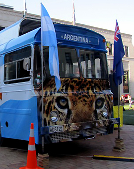 El colectivo de la Argentina en Wellington
